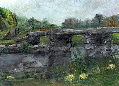 Painting - Postbridge Dartmoor by Carol Rowland