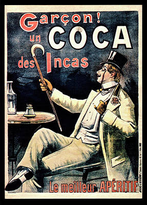 Postcard Advertising Coca Des Incas Print by National Library Of Medicine
