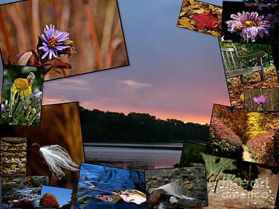 Photograph - Postcard Autumn Memories by Susan Herber