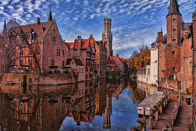 Landmarks Royalty Free Images - Postcard Canal Royalty-Free Image by Joan Carroll