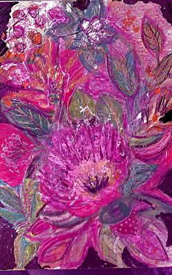 Fantastique Painting - Postcard From Heaven by Anne-Elizabeth Whiteway