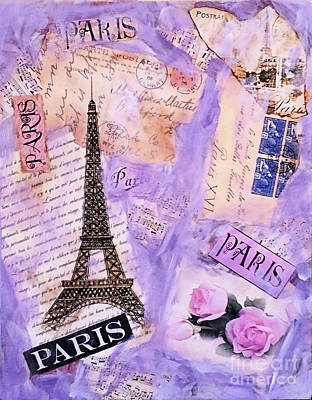 Mixed Media - Postcard From Paris by Ruby Cross