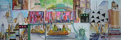 Apollo Theater Painting - Postcards From New York City by Jack Diamond