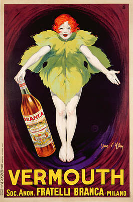 Poster Advertising Fratelli Branca Vermouth Art Print by Jean DYlen