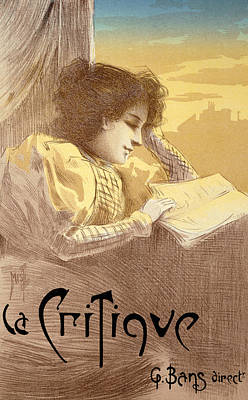Critique Painting - Poster Advertising La Critique by Ferdinand Misti Mifliez
