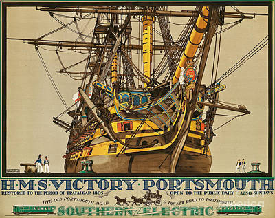 Sailing Drawing - Poster Advertising Southern Electric Railways by Kenneth Shoesmith