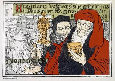 Townscapes Drawing - Poster Advertising The Arts And Crafts by Georg Muller-Breslau