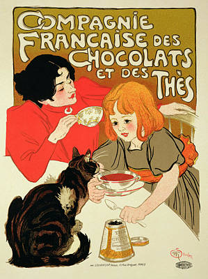 Advertisement Drawing - Poster Advertising The French Company by Theophile Alexandre Steinlen