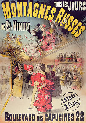 Belle Epoque Painting - Poster Advertising The Montagnes Russes Roller Coaster by French School