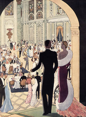 Evening Gown Painting - Poster Advertising The Rex by Italian School