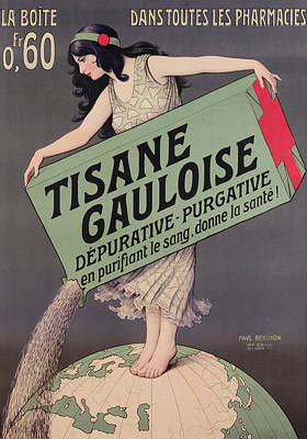 Belle Epoque Painting - Poster Advertising Tisane Gauloise by Paul Berthon