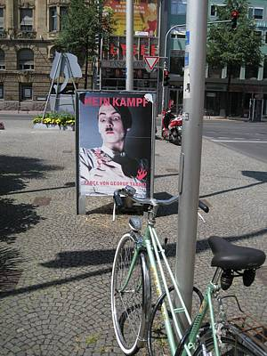 Mein Kampf Photograph - Poster And Bicycle by Terence Nunn