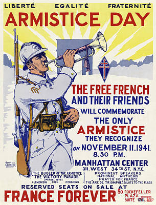 Drawing - Poster Armistice, 1941 by Granger