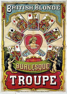 Burlesque Drawing - Poster Burlesque, C1870 by Granger
