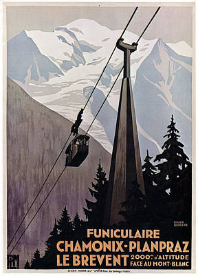 Drawing - Poster Cable Car, C1920 by Granger