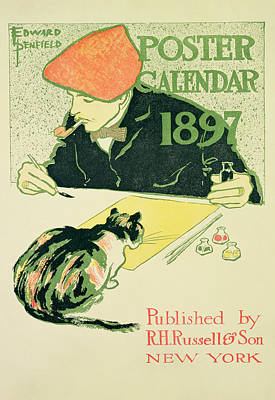 Poster Calendar, Pub. By R.h. Russell & Son, 1897 Colour Litho Art Print by Edward Penfield