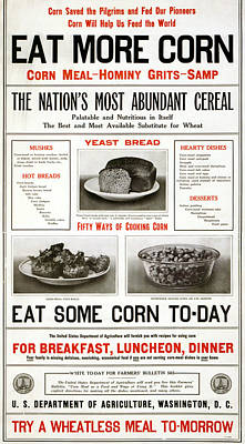 American Food Painting - Poster Corn, 1917 by Granger