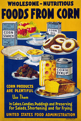 Corn Painting - Poster Corn, 1918 by Granger