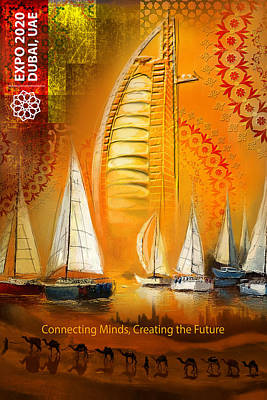 Painting - Poster Dubai Expo - 4 by Corporate Art Task Force