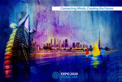 Khalifa Painting - Poster Dubai Expo - 9 by Corporate Art Task Force