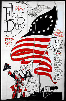 American Eagle Painting - Poster Flag Day, 1917 by Granger