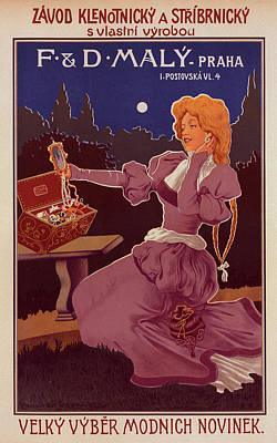 Affiche Drawing - Poster For A Maison De Bijouterie by Liszt Collection