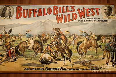 Photograph - Poster For Buffalo Bill's Show by Brenda Kean
