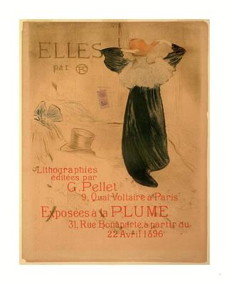 Poster For Elles, French, 1864  1901, 1896 Art Print by De Toulouse-lautrec, Henri (1864?1901), French
