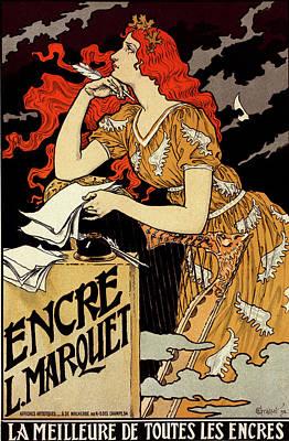 Poster For  L Encre Marquet. Eugène Grasset 1845 – 1917 Print by Liszt Collection