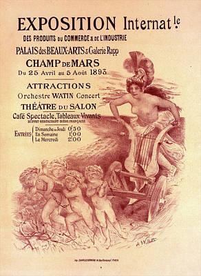 Galerie Painting - Poster For  L Exposition Internationale Des Produits Du by Liszt Collection