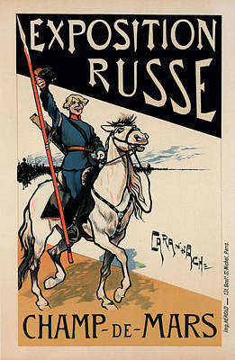 Affiche Drawing - Poster For L Exposition Russe by Liszt Collection
