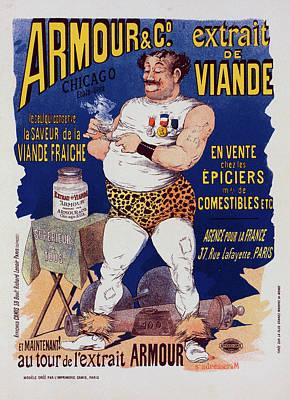 Affiche Drawing - Poster For L Extrait De Viande Armour by Liszt Collection
