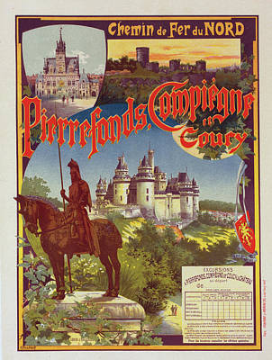 Affiche Drawing - Poster For  La Cie Du Nord  Pierrefonds by Liszt Collection