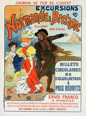 Affiche Drawing - Poster For La Compagnie Des Chemins De Fer De Louest by Liszt Collection