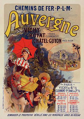 Poster For La Compagnie P.-l.-m. Lauvergne Art Print by Liszt Collection