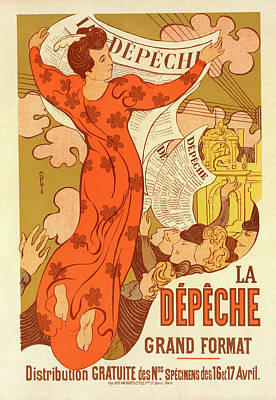 D.p Drawing - Poster For La Dépêche De Toulouse by Liszt Collection