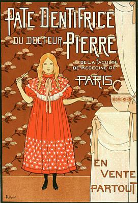 Brush.media Drawing - Poster For La Pâte Dentifrice Du Docteur Pierre by Liszt Collection