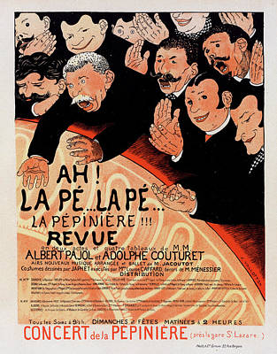 Poster For La Revue Ah La Pé.. La Pé Art Print by Liszt Collection