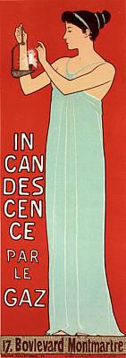 Gas Lamp Painting - Poster For La Société Française D Incandescence Par Le by Liszt Collection