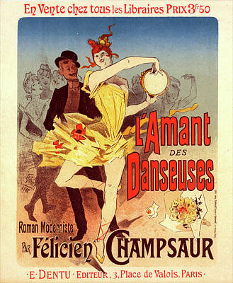 Novel Painting - Poster For Lamant Des Danseuses, The Lovers Of Dancers by Liszt Collection