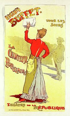 Buffet Drawing - Poster For Le Théâtre De La Renaissance by Liszt Collection