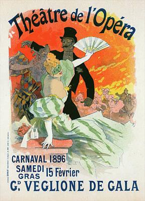 Poster For Le Théâtre De Lopéra Art Print by Liszt Collection