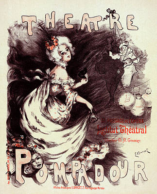 Female Clown Painting - Poster For Le Théâtre Pompadour. Emmanuel Barcet Lyon by Liszt Collection