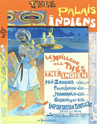 Affiche Drawing - Poster For Les Thés Du Palais Indien by Liszt Collection