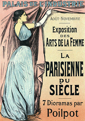 Poster For Lexposition Des Arts De La Femme Sept Dioramas Art Print