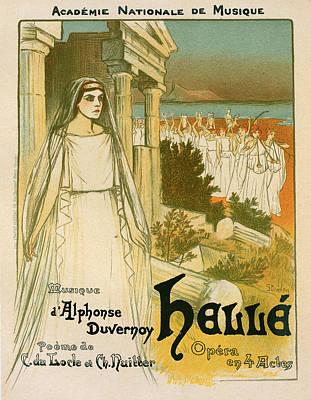 Greek Vase Painting - Poster For Lopéra Hellé, Représenté Au Théâtre by Liszt Collection