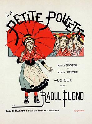 Affiche Drawing - Poster For Lopérette La Petite Poucette by Liszt Collection