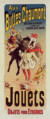 Poster For Magasin Aux Buttes Chaumont. Chéret Art Print