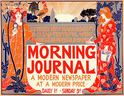 Affiche Drawing - Poster For Morning Journal by Liszt Collection