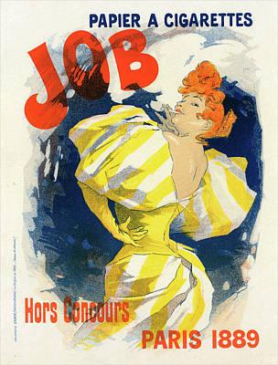Poster For Papier à Cigarettes Job. Chéret Art Print by Liszt Collection